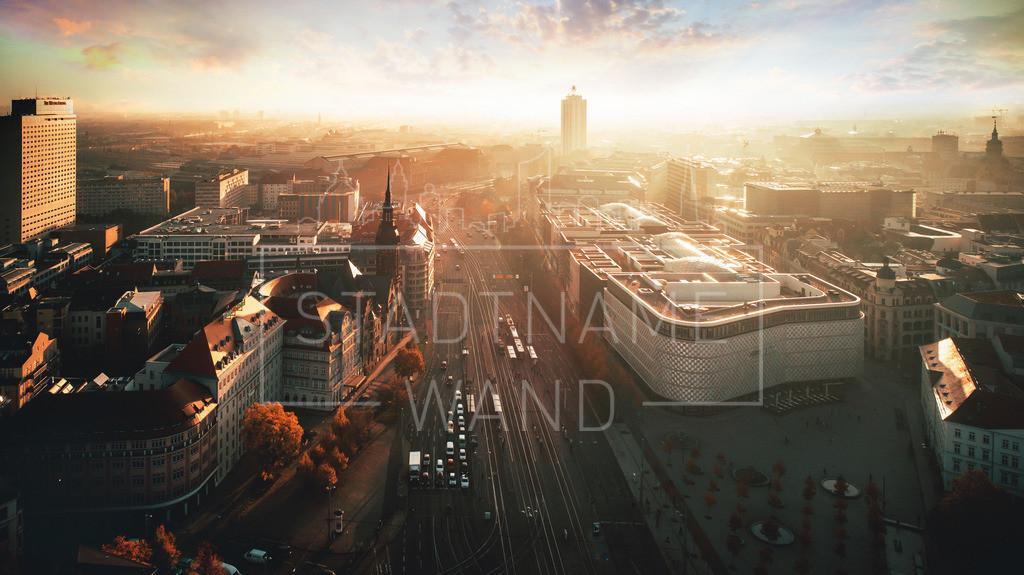 Goerdelerring Leipzig  | Mit Blick auf den Hauptbahnhof, über die Höfe am Brühl bis hin zum Messehochhaus ein fantastisches Panorama unsere Stadt Leipzig