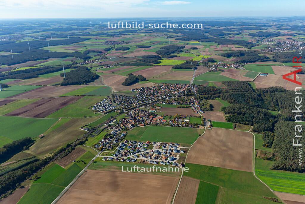 hagenbuechach-19-851 | aktuelles Luftbild von  Hagenbuechach - Luftaufnahme wurde 2019 von https://frankenair.de mittels Flugzeug (keine Drohne) erstellt.