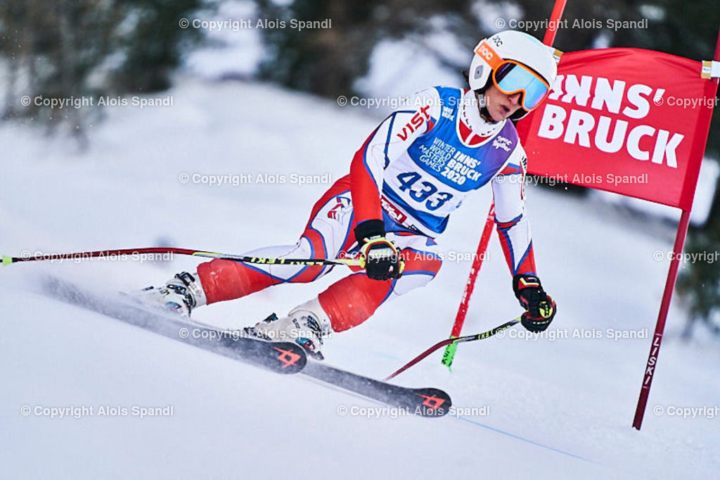 ALS5837_WWMG_GS-II_C | (C) FotoLois.com, Alois Spandl, WinterWorldMastersGames 2020 Innsbruck, Giant Slalom-II Gruppe C Damen, Patscherkofel Olympiaabfahrt, Mi 15. Jänner 2020.