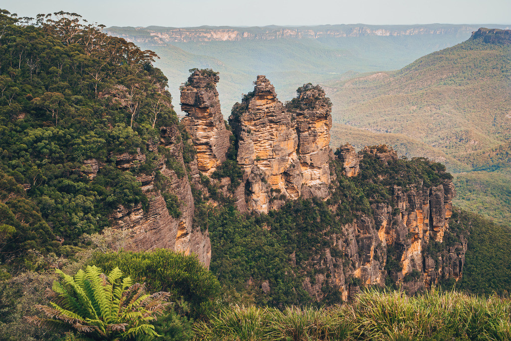 Three Sisters in den Blue Mountains | Three Sisters in den Blue Mountains in Australien