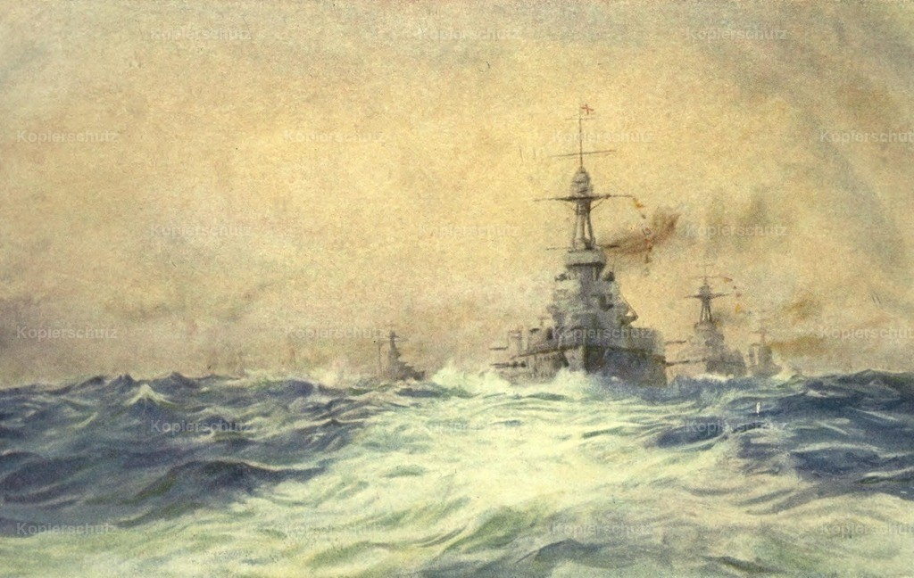 Wyllie_ William (1851-1931) - More Sea-fights of the Great War 1919 - Iron Duke in Pentland Firth