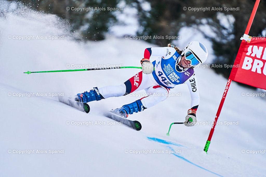ALS5889_WWMG_GS-II_C | (C) FotoLois.com, Alois Spandl, WinterWorldMastersGames 2020 Innsbruck, Giant Slalom-II Gruppe C Damen, Patscherkofel Olympiaabfahrt, Mi 15. Jänner 2020.