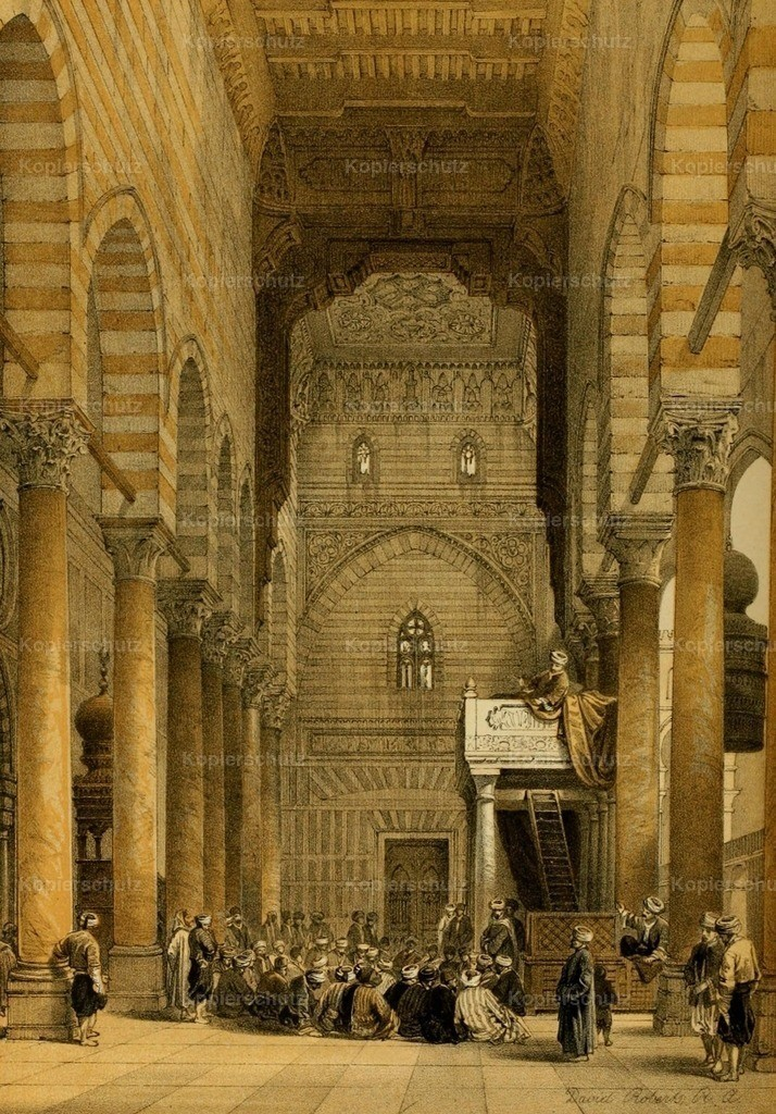 Roberts_ D. (1796-1864) - Holy Land 1855 - Mosque of the Metwalis - Interior