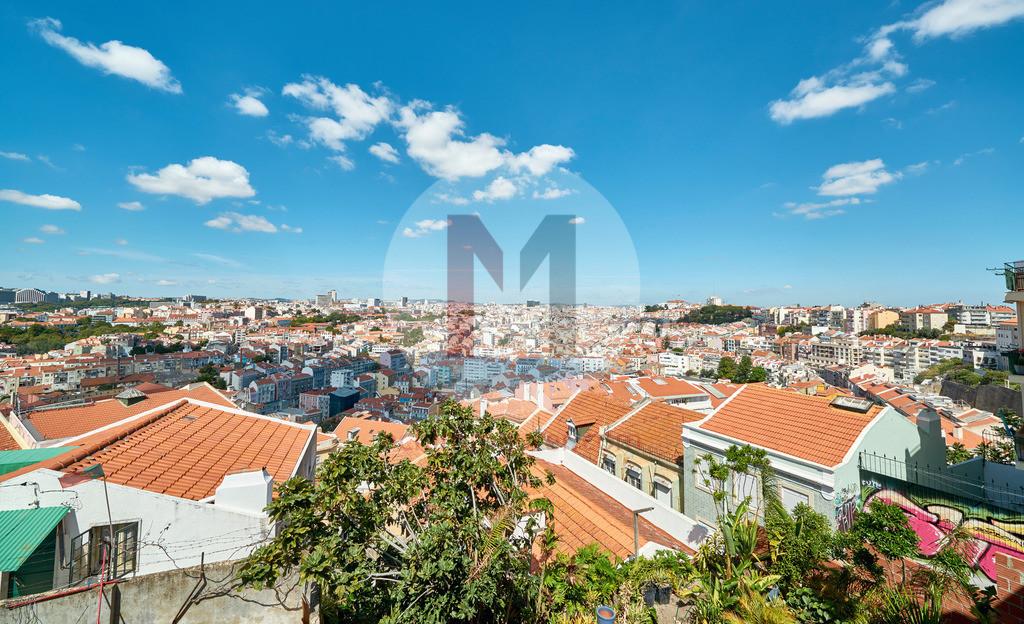 Aussicht und Panorama Blick über Lissabon