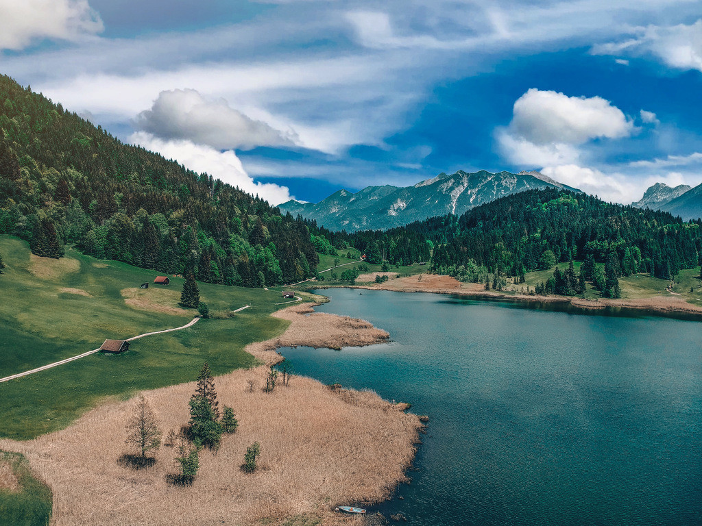 Geroldsee    Luftaufnahme vom Geroldsee