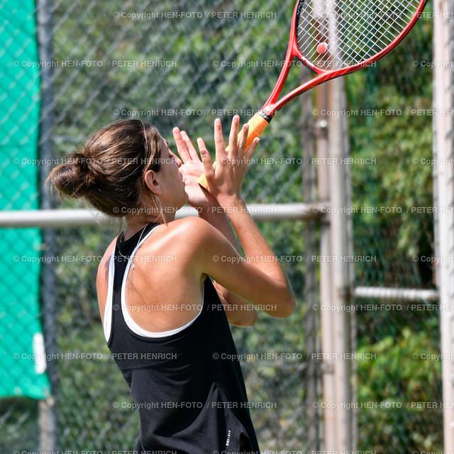 Tennis Damen (6er) Hessenliga TC Seeheim - TC Lorsch (1:6) 20190720 copyright by HEN-FOTO | Tennis Damen (6er) Hessenliga TC Seeheim - TC Lorsch (1:6) 20190720 Emilija Kojcic (S) unzufrieden - copyright by HEN-FOTO Foto: Peter Henrich