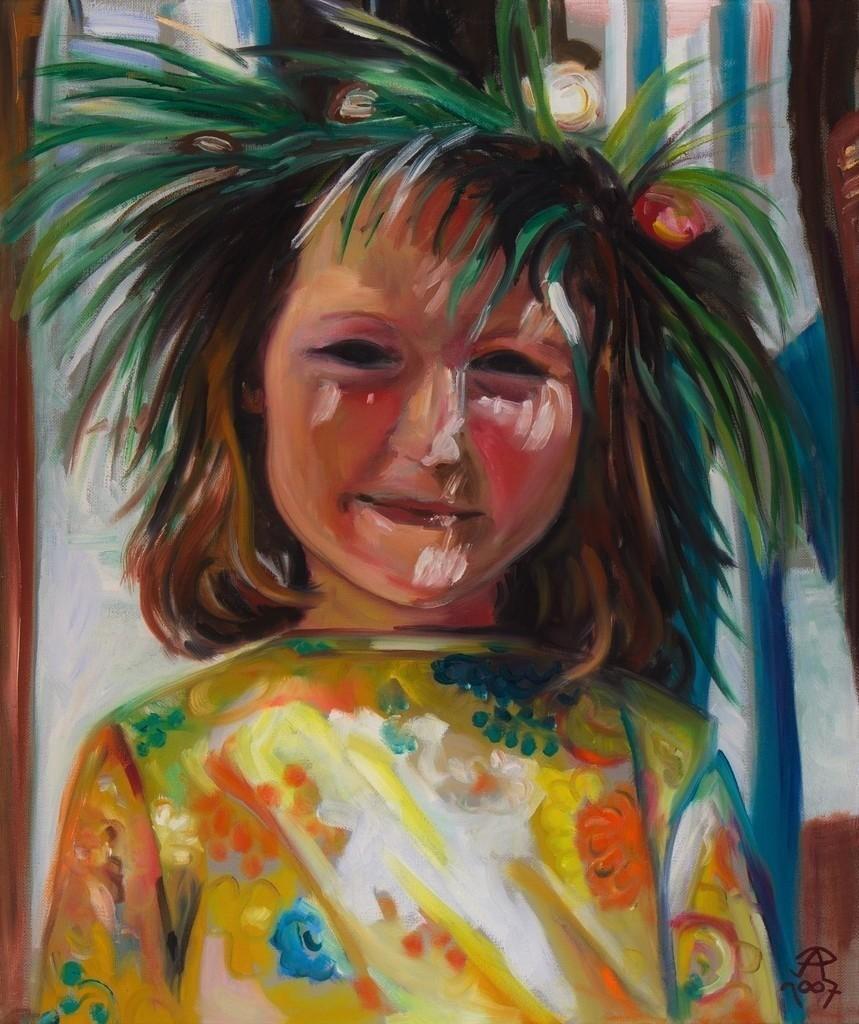 Mädchen mit Wiesenkranz | Originalformat: 60x50cm  -  Produktionsjahr: 2007
