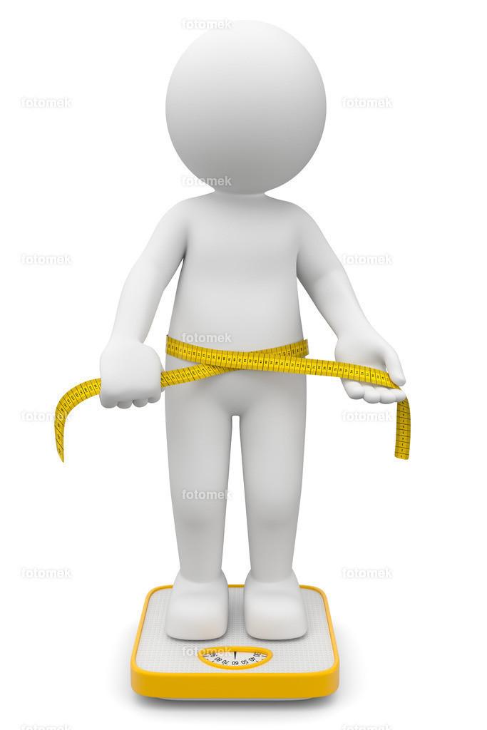 3d Männchen Diät | 3d Männchen auf der Waage beim prüfen von seinen Maßen und dem Gewicht nach einer strengen Diät. Der Body Maß Index zeigt Normalgewicht.