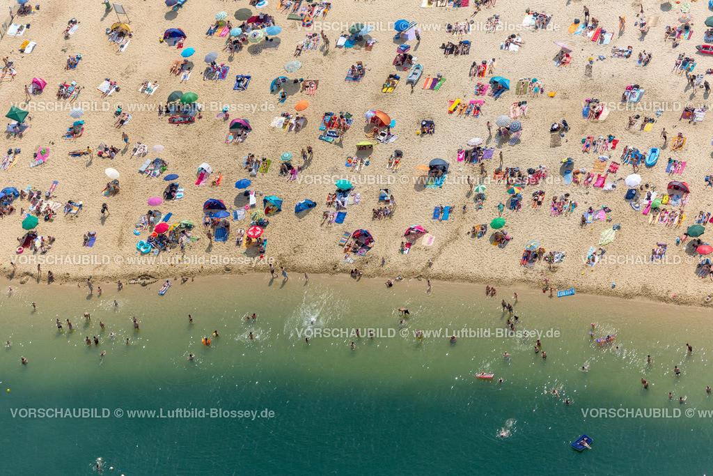 Haltern13081837 | Silbersee II aus der Luft, Sandstrand und türkisfarbenes Wasser, Luftbild von Haltern am See