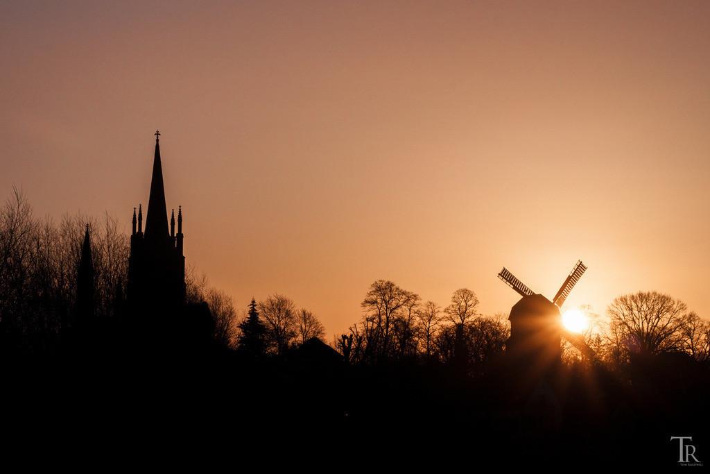 Werder-Silhouette am Morgen