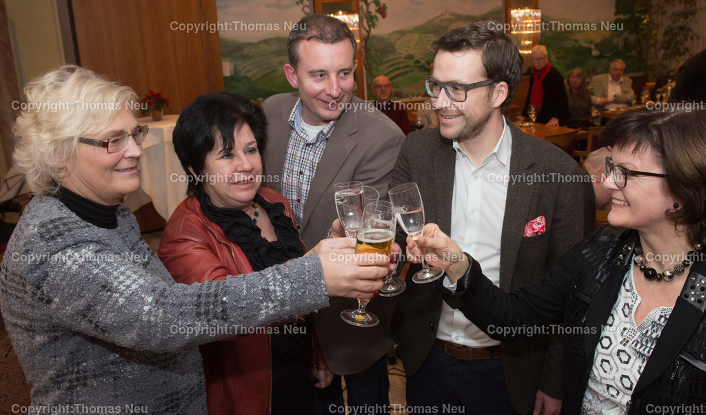SPD_03 | Bensheim,Hotel Felix, Neujahrsempfang der SPD, mit Christine Lambrecht, Karin Hartmann, Karsten Krug, Philipp Thoma (Fraktionsvorsitzender) Christiane Lux, (Vorsitzende),  ,, Bild: Thomas Neu