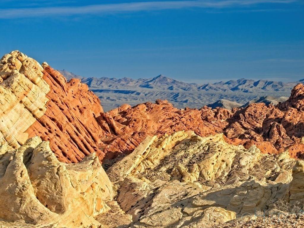 Valley of Fire   Roter und weisser Sandstein im Valley of Fire State Park, Nevada, USA