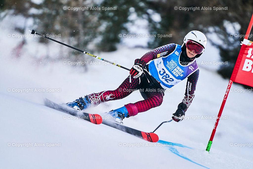 ALS5599_WWMG_GS-II_C | (C) FotoLois.com, Alois Spandl, WinterWorldMastersGames 2020 Innsbruck, Giant Slalom-II Gruppe C Damen, Patscherkofel Olympiaabfahrt, Mi 15. Jänner 2020.