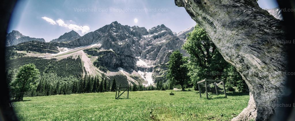 kleiner Ahornboden | Aufnahme mit einem 90er Jahre T/S Objektiv, bei einer Fahrradtour im Karwendel