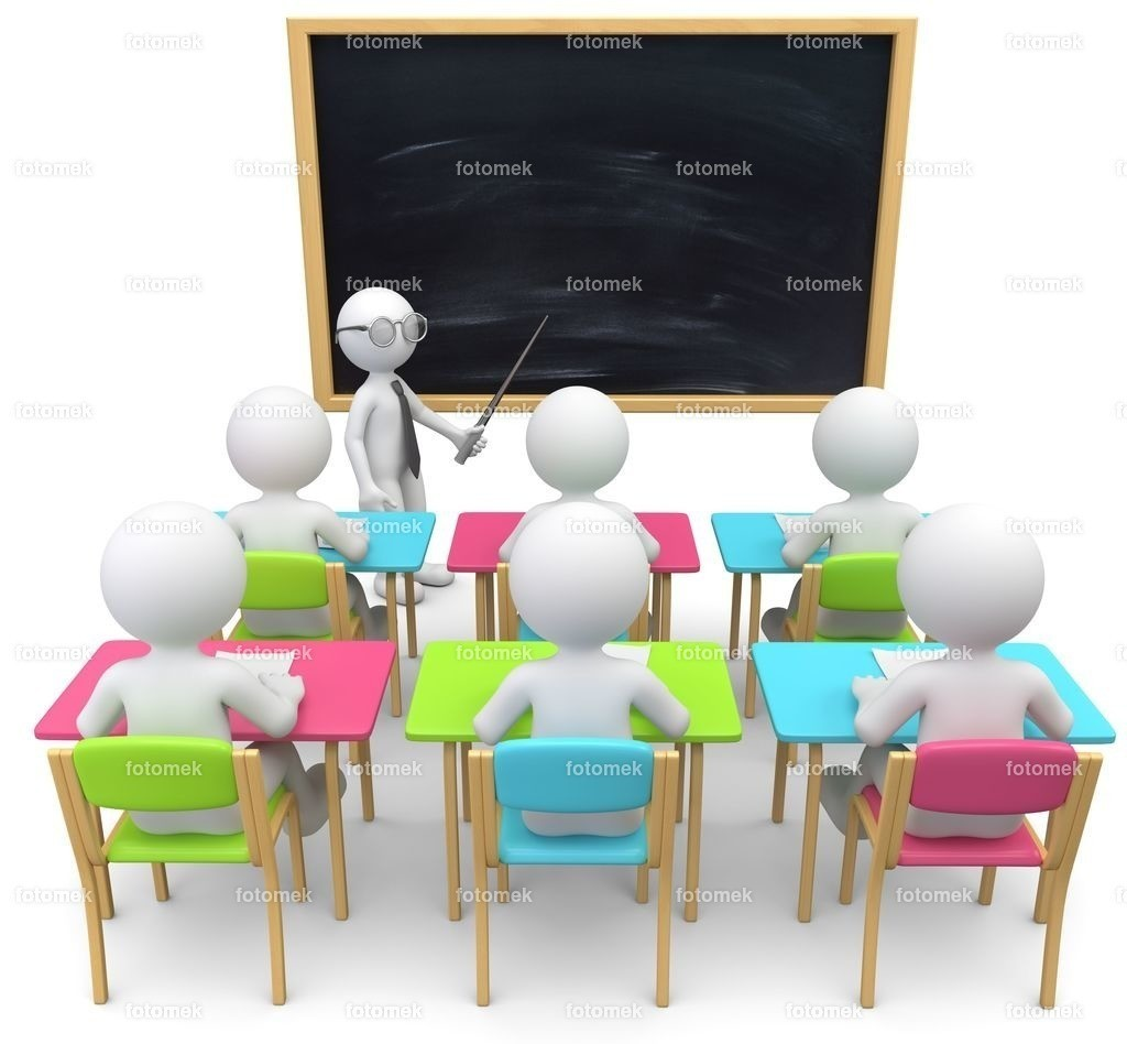 3D Männchen leere tafel Unterricht | weisse 3D Männchen von Fotomek