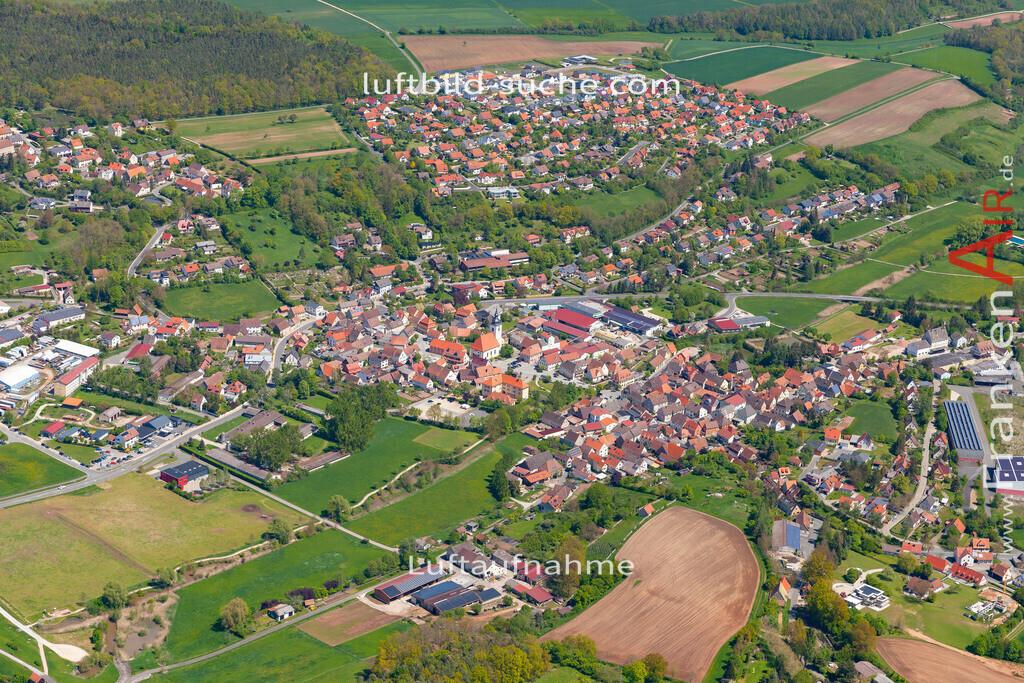 burghaslach-19-218   aktuelles Luftbild von  Burghaslach  - Luftaufnahme wurde 2019 von https://frankenair.de mittels Flugzeug (keine Drohne) erstellt.
