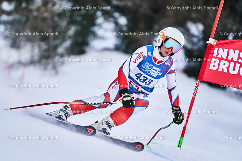 ALS5836_WWMG_GS-II_C | (C) FotoLois.com, Alois Spandl, WinterWorldMastersGames 2020 Innsbruck, Giant Slalom-II Gruppe C Damen, Patscherkofel Olympiaabfahrt, Mi 15. Jänner 2020.