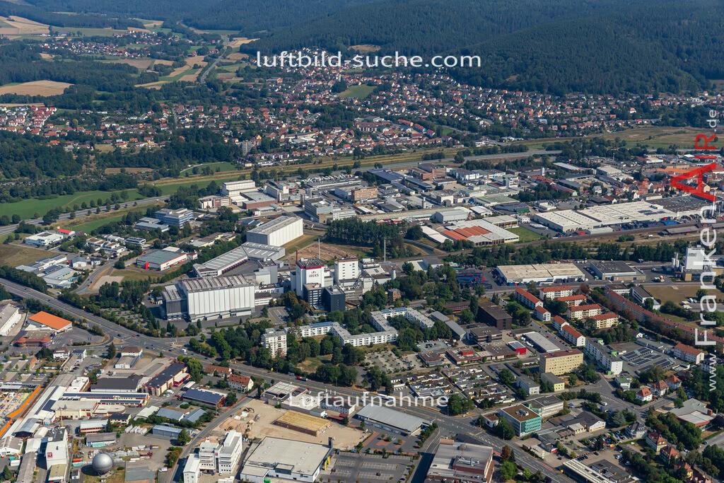 gewerbegebiet-kulmbach-19-669   aktuelles Luftbild von Gewerbegebiet  Kulmbach - Luftaufnahme wurde 2019 von https://frankenair.de mittels Flugzeug (keine Drohne) erstellt.