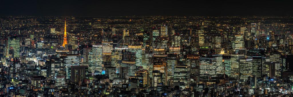 Tokyo bei Nacht (Panorama)