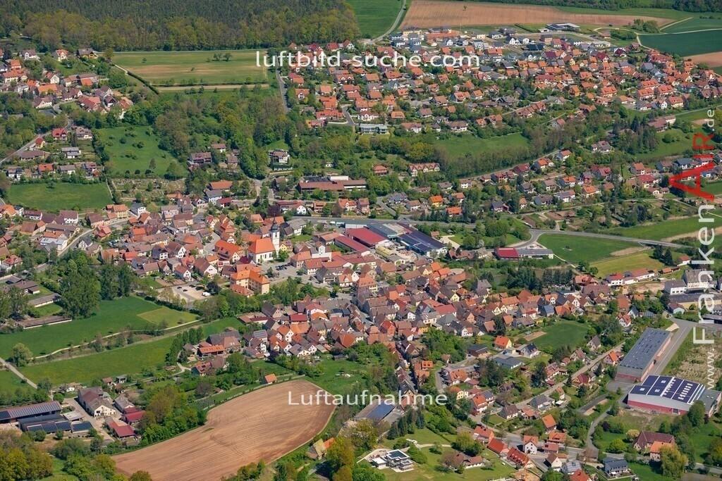 burghaslach-19-220   aktuelles Luftbild von  Burghaslach  - Luftaufnahme wurde 2019 von https://frankenair.de mittels Flugzeug (keine Drohne) erstellt.