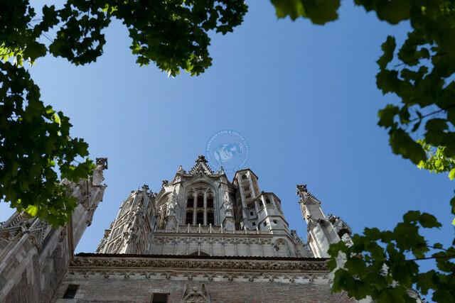 Süd-Ost-Turm des Ulmer Münsters | DEU, Deutschland, Filderstadt, 12.06.2012, DEU, Deutschland, Baden-Württemberg, Ulm, Innenstadt