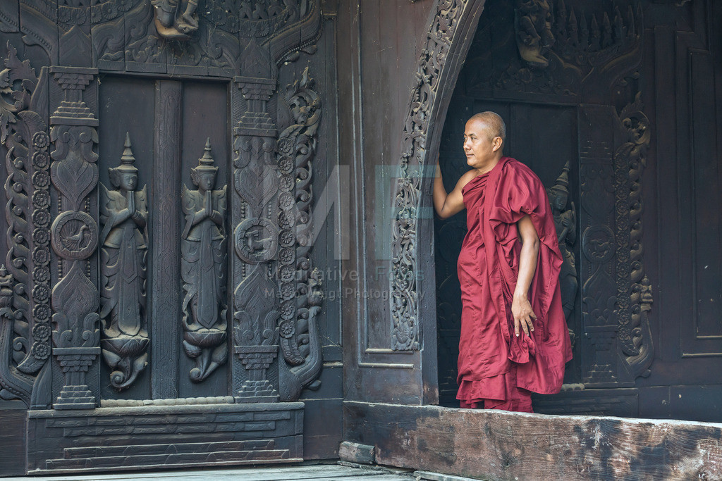 Teakholzkloster | Teakholzkloster Shwe In Bin Kyaung in Mandalay