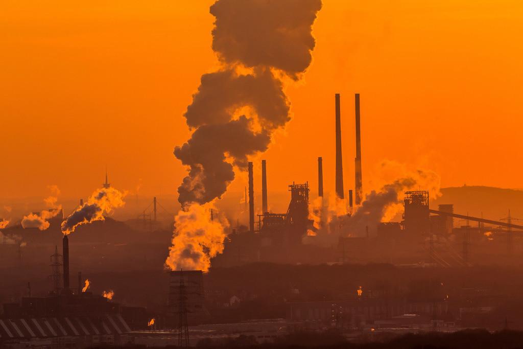 JT-160216-018 | Stahlstandort Duisburg, Kulisse der ThyssenKrupp Steel Stahlwerke, Hochöfen, in Duisburg Bruckhausen,