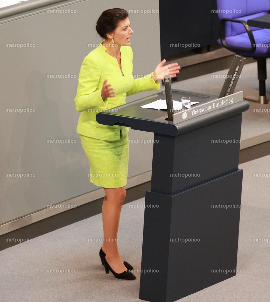 Sahra Wagenknecht offensiv
