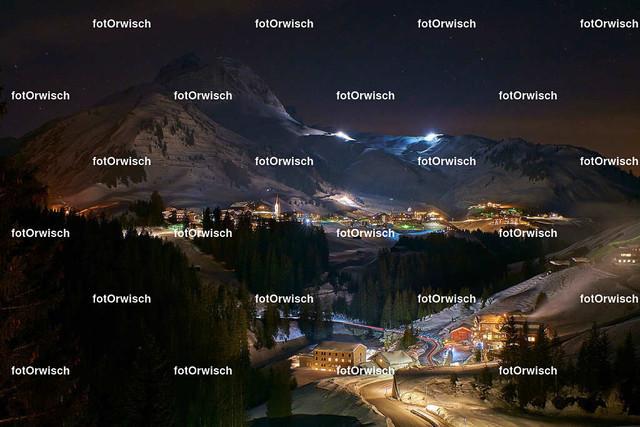 Warth bei Nacht | Nachtfoto von Warth (Vorarlberg)