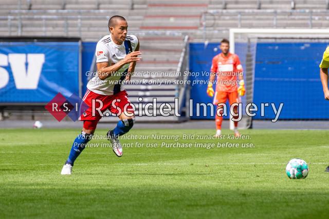Fußball, Herren, Testspiel, Hamburger SV - FC Hansa Rostock, Volksparkstadion, 09.08.2020 | Bobby Wood (#11 HSV)