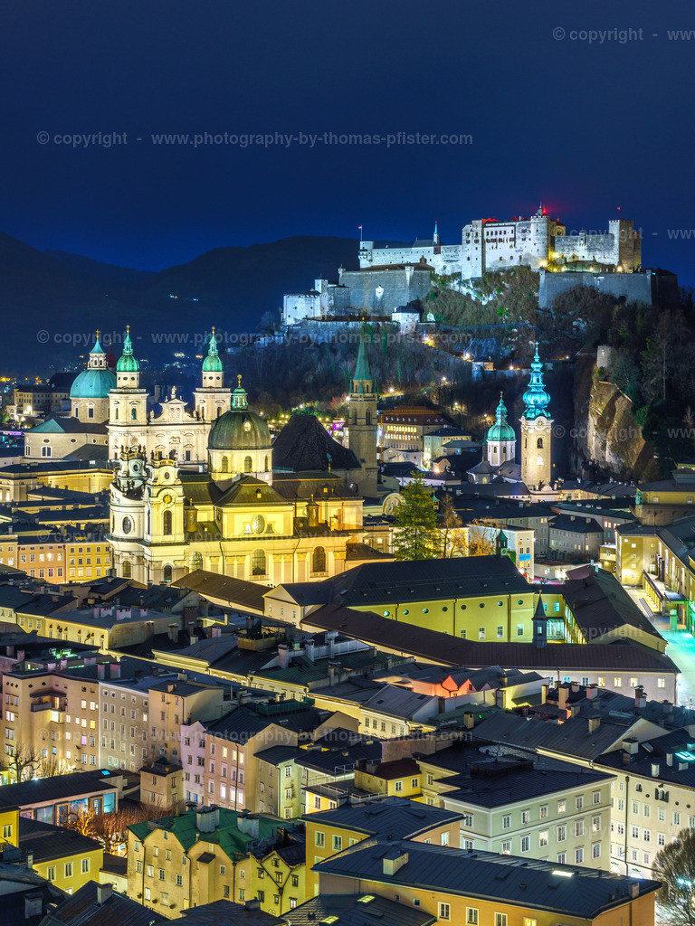 Salzburg Mönchsberg am Abend-4
