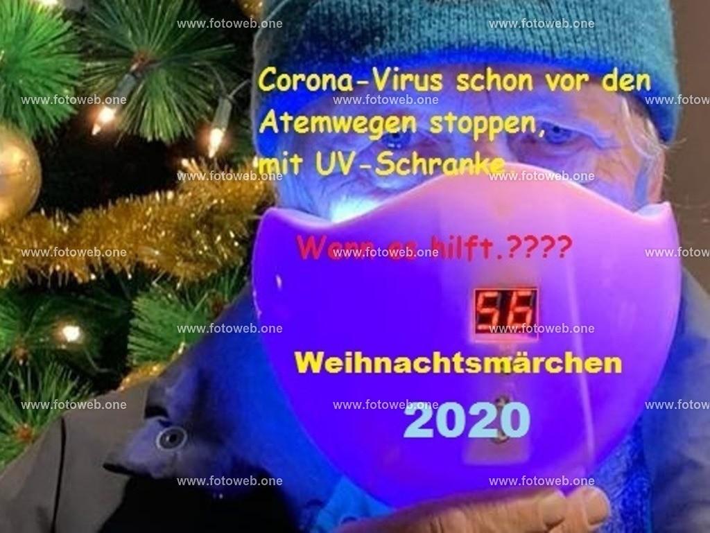 Maske_TEXT | Auch mit UV Schranke bleibt wahrscheinlich das Corona Virus