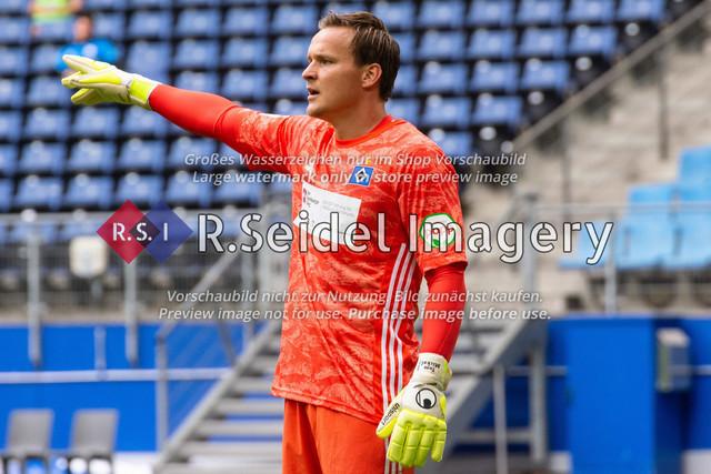 Fußball, Herren, Testspiel, Hamburger SV - FC Hansa Rostock, Volksparkstadion, 09.08.2020   Tom Mickel (#12 HSV Torwart)