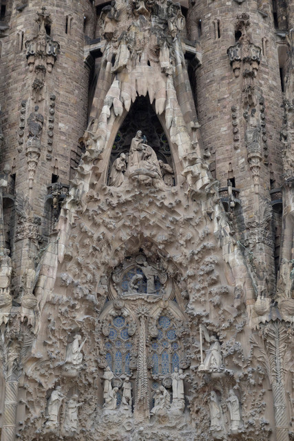 Antoni Gaudís Sagrada Família Detail Nordfassade | ESP, Spanien, Barcelona, 16.12.2018, Antoni Gaudís Sagrada Família Detail Nordfassade [2018 Jahr Christoph Hermann]