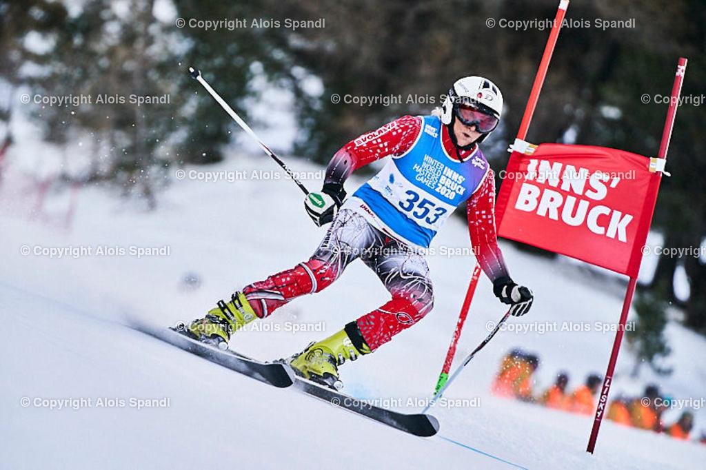 ALS5428_WWMG_GS-II_C   (C) FotoLois.com, Alois Spandl, WinterWorldMastersGames 2020 Innsbruck, Giant Slalom-II Gruppe C Damen, Patscherkofel Olympiaabfahrt, Mi 15. Jänner 2020.