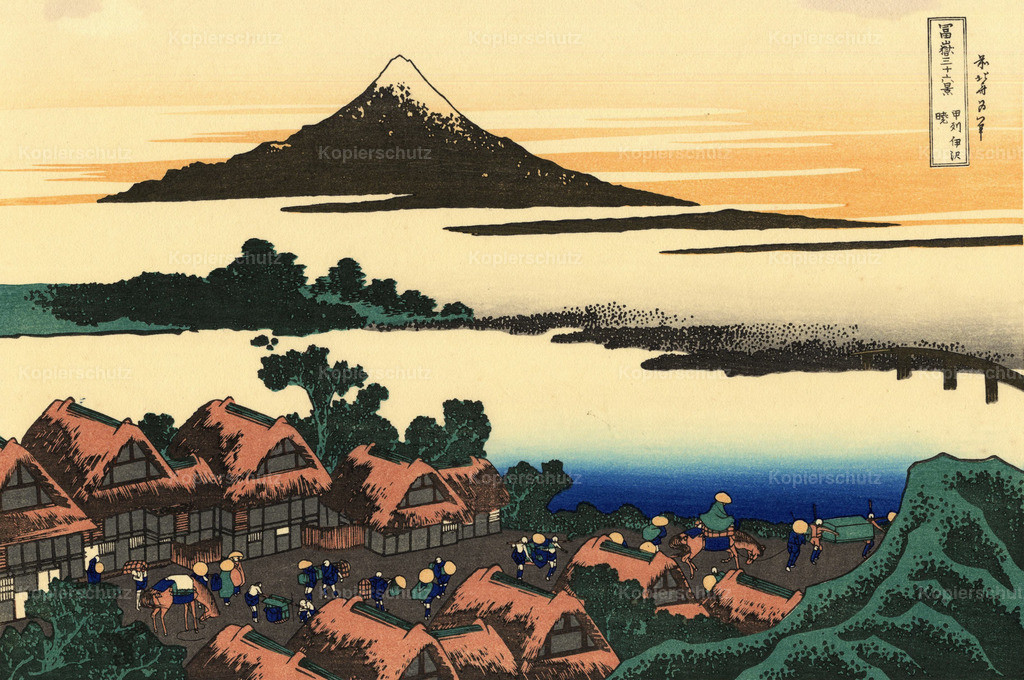 Dawn-at-Isawa-in-the-Kai-province by Katsushika Hokusai - Large Format
