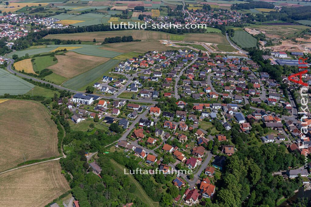 marktzeuln-2020-246 | Aktuelles Luftbild von  Marktzeuln - Die Luftaufnahme wurde 2020 mittels UL-Flugzeug erstellt ( keine Drohne ) - hochauflösende Kamera-Systeme von  Canon - Beste Qualität - Für grossformatige Ausdrucke geeignet. Die Geschenkidee !