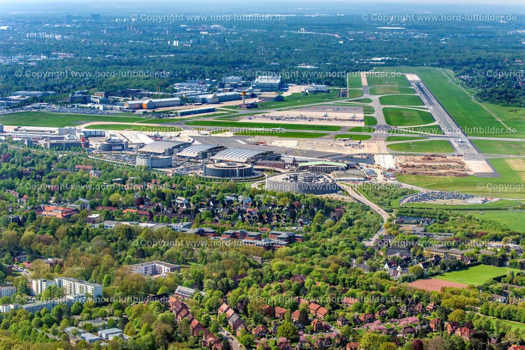 Hamburg Flughafen Fuhlsbüttel_ELS_8130020518 | Hamburg Fluhafen - Aufnahmedatum: 02.05.2018, Aufnahmehöhe: 370 m, Koordinaten: N53°39.053' - E10°02.154', Bildgröße: 7602 x  5068 Pixel - Copyright 2018 by Martin Elsen, Kontakt: Tel.: +49 157 74581206, E-Mail: info@schoenes-foto.de  Schlagwörter:Hamburg,Finkenwerder,Luftbild, Luftbilder, Deutschland