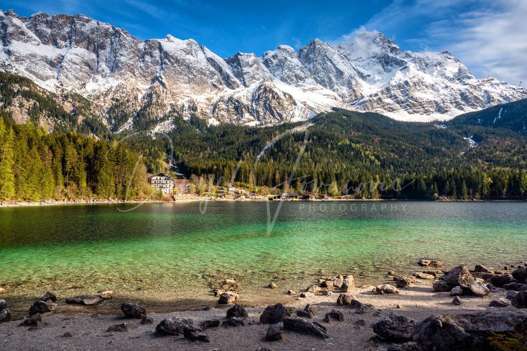 Eibsee | Eibsee und die Zugspitze im Frühling