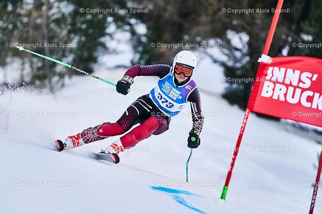 ALS5527_WWMG_GS-II_C | (C) FotoLois.com, Alois Spandl, WinterWorldMastersGames 2020 Innsbruck, Giant Slalom-II Gruppe C Damen, Patscherkofel Olympiaabfahrt, Mi 15. Jänner 2020.