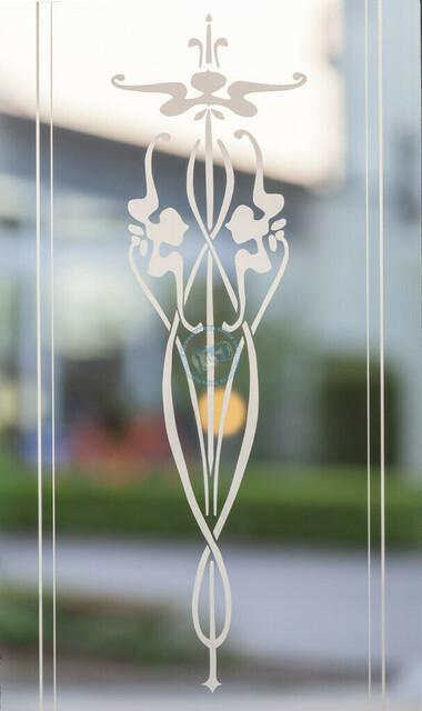 Bansin Jugendstilelement an einer Glastüre | DEU/Deutschland, Mecklenburg-Vorpommern, Usedom, Bansin, 15.05.2013, Bansin Jugendstilelement an einer Glastüre © 2013 Christoph Hermann Bild-Kunst Urheber 707707