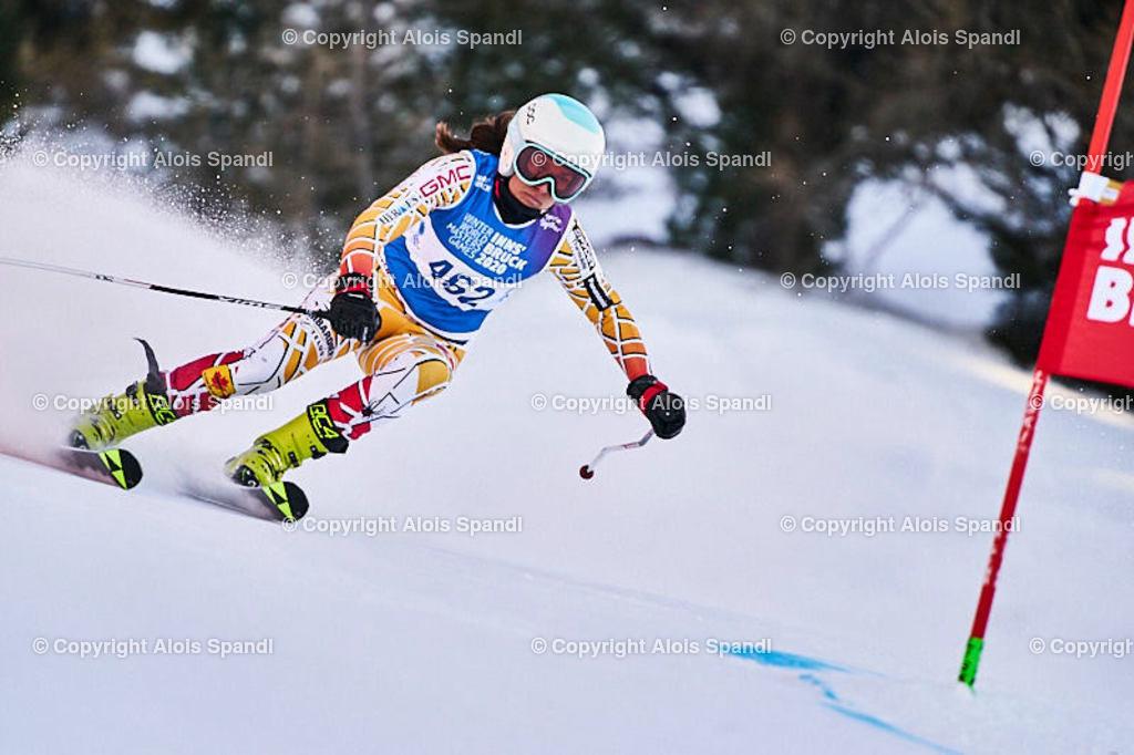 ALS5987_WWMG_GS-II_C   (C) FotoLois.com, Alois Spandl, WinterWorldMastersGames 2020 Innsbruck, Giant Slalom-II Gruppe C Damen, Patscherkofel Olympiaabfahrt, Mi 15. Jänner 2020.