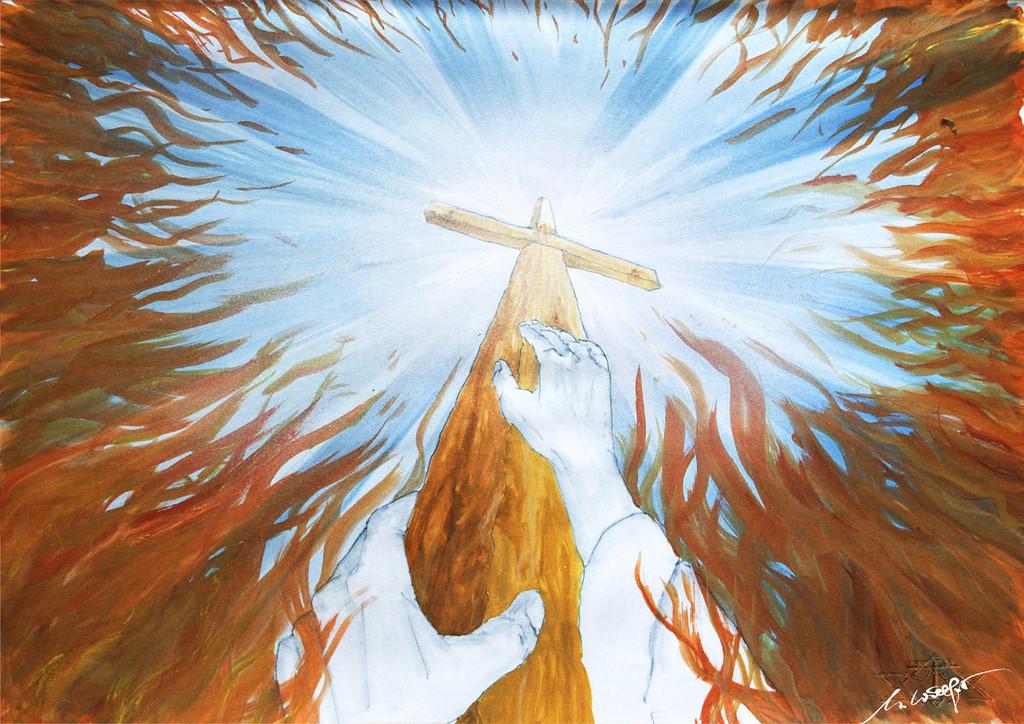 Die Rettung | ...aus dem Feuer von Not und Verzweiflung. Etwas plakativ aber mir gefällt die subjektive Sichtweise