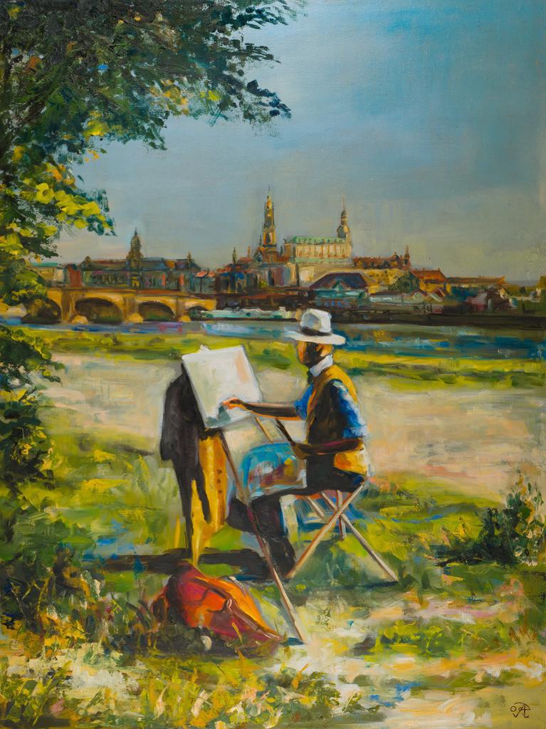 Der Dresdner Maler | Originalformat: 80x60cm  -   Produktionsjahr: 2009