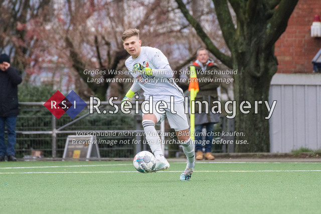 Fußball, Herren, Mercado Cup 2020, TSV Sasel (Oberliga) - FC Teutonia Ottensen 05 (Oberliga), Sportplatz Kreuzkirche, 02.02.2020 | Lasse Erichsen (#1, Sasel, Torwart)