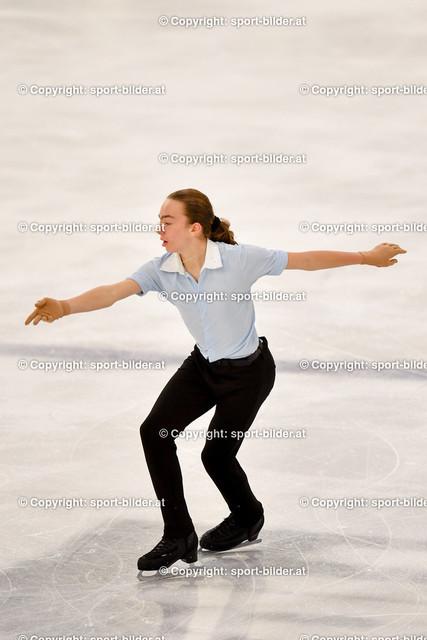 AUT, Eiskunstlaufen, Junior Grand Prix of Figure Skating 2021/2022 | 07.10.2021, Eishalle Linz, AUT, Eiskunstlaufen, Junior Grand Prix of Figure Skating 2021/2022, im Bild Tobia Oellerer (AUT) - Junior Men Short Program