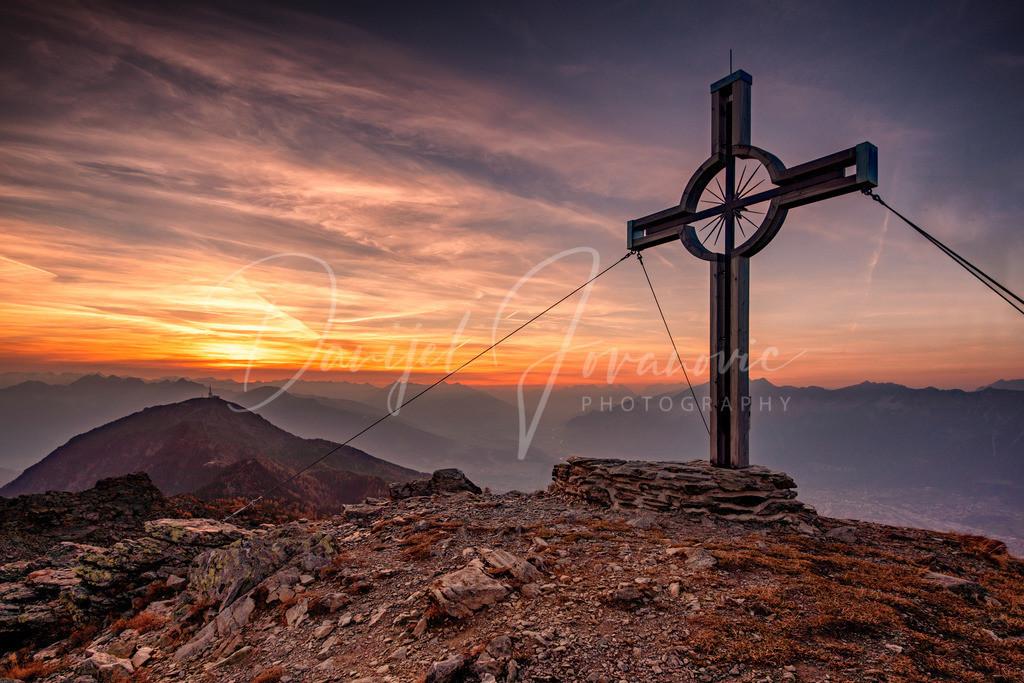 Sonnenuntergang | Sonnenuntergang in den Tuxer Alpen