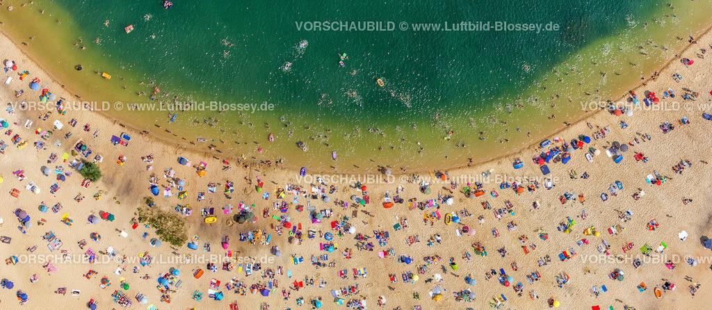 Haltern13081745 | Silbersee II aus der Luft, Sandstrand und türkisfarbenes Wasser, Luftbild von Haltern am See