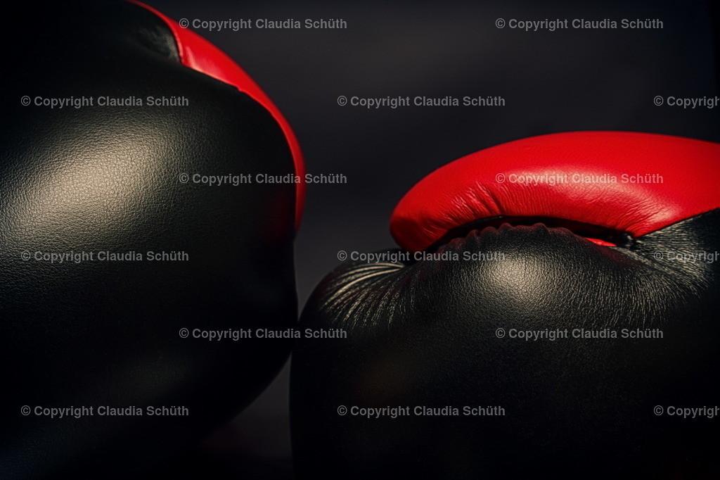 Boxhandschuhe | Boxhandschuhe in rot und schwarz.