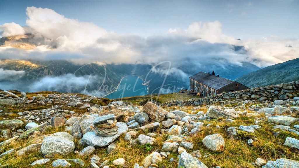Olpererhütte | Blick von der Olpererhütte auf den Schlegeis Stausee